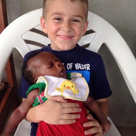 Finn with baby Junior