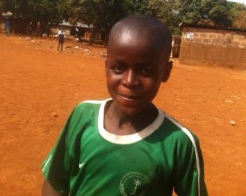 Ishmael LOVES soccer!